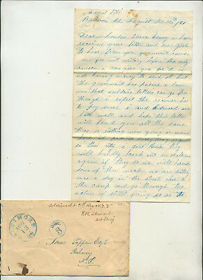 1861 Civil War Era Soldier's Letter Datelined Federal Hill Baltimore