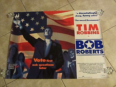 Bob Roberts movie poster - Tim Robbins -  original UK Quad