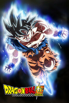 Dragon Ball Super Goku Ultra 12in x 18in Free and Fast Shipping