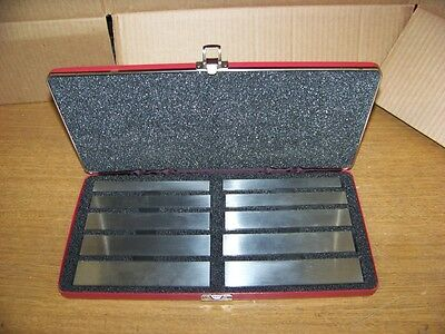 "Starrett 384 Steel Parallel SET Hardened and Ground 6"" L 1/2X 5/8 - 1/2 X 1 -1/4"