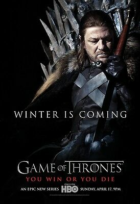 Game Of Thrones poster : Sean Bean poster : 11 x 17 inches (winter)