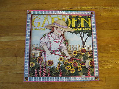 Vintage Mary Engelbreit Who Loves a Garden...  Cards to Keep   3D Plaque