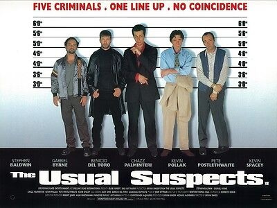 The Usual Suspects movie poster  - Kevin Spacey poster, Benicio Del Toro poster
