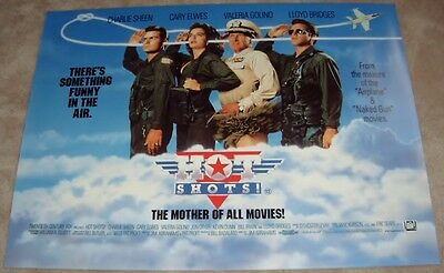 Hot Shots  movie poster Charlie Sheen, Cary Elwes - 30 x 40 inches