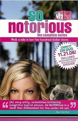 So Notorious  poster - Tori Spelling poster - 11 x 17 inches