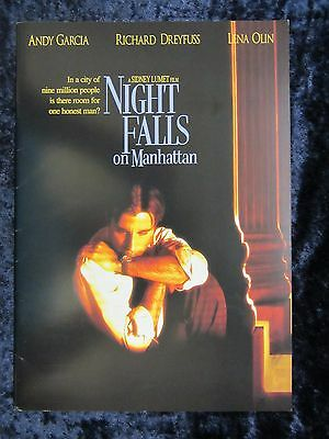 MIGHT FALLS ON MANHATTAN - British production note booklet  - ANDY GARCIA