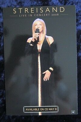 Barbra Streisand Live In Concert 2006  promo card - 4 x 6 inches