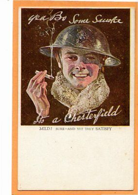 Advertising Postcard - Soldier Chesterfield Cigarettes by Leyendecker