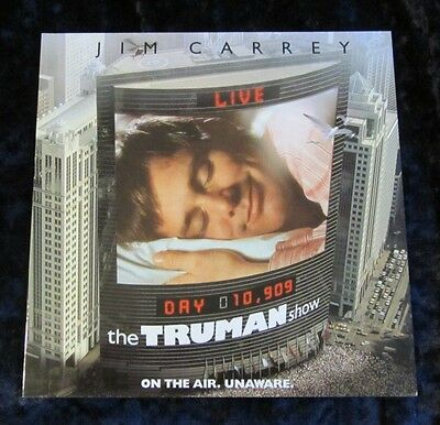 The Truman Show british glossy fold out synopsis - Jim Carrey