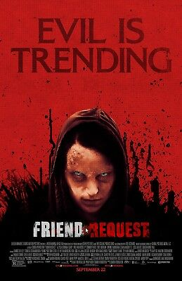 """Friend Request movie poster  -  11"""" x 17"""" inches - Horror"""