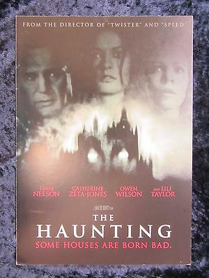 THE HAUNTING  british fold out synopsis card LIAM NEESON, OWEN WILSON