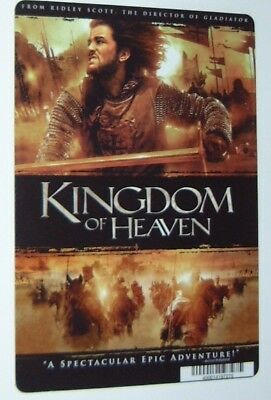 KINGDOM OF HEAVEN promo art card ORLANDO BLOOM this is NOT a movie