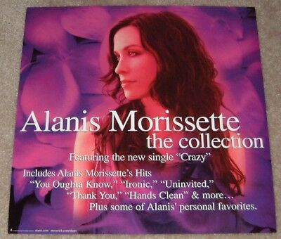 Alanis Morissette promo poster flat - The Collection - 12 x 12 inches