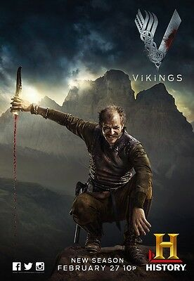 Vikings poster print (f) :  11 x 17 inches