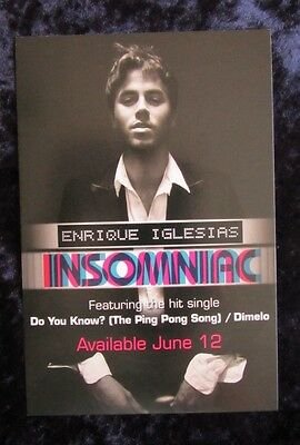 ENRIQUE IGLESIAS, INSOMNIAC - promo card - lot of 5 cards - FREE SHIPPING