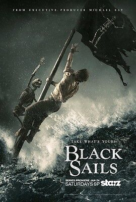 """Black Sails poster (b) Pirate poster 11"""" x 17"""" inches"""