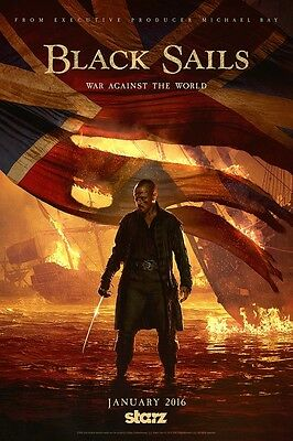 """Black Sails poster (d) - Pirate poster - 11"""" x 17"""" inches"""