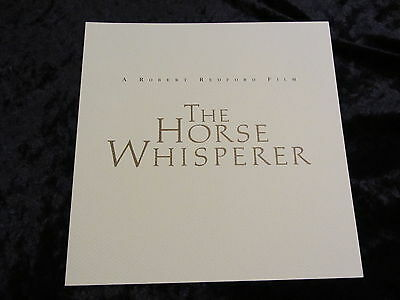 THE HORSE WHISPERER british fold out synopsis/press book ROBERT REDFORD