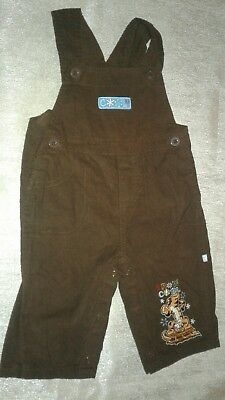 Disney Mickey Mouse Baby Boys Girls Corduroy Overalls Snow Cool 6-9 Months