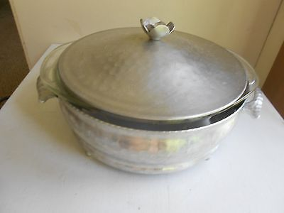 Hammered Aluminum Casserole Dish With Pyrex Insert