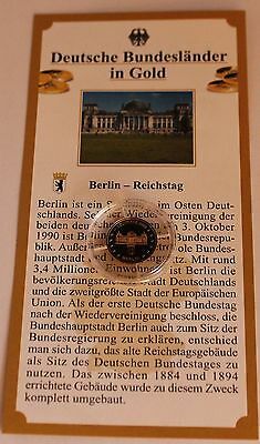 Medaille Berlin - Reichstag Gold PP