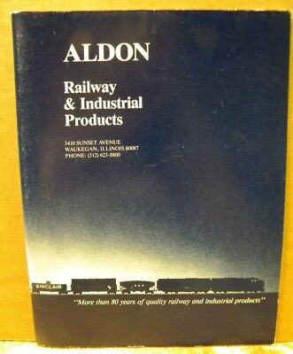 Aldon Railway & Industrial Products Brochure Oct 1985 44 pages.  Indexed.