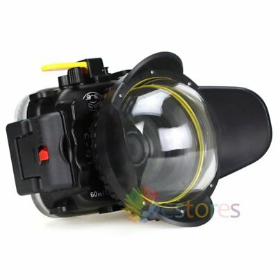 Seafrogs 195ft Waterproof Case + Fisheye Wide Angle Dome Port For Olympus TG5