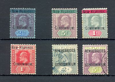 New Hebrides 1908/10 --- 6 Stamps --*/0 --F/vf