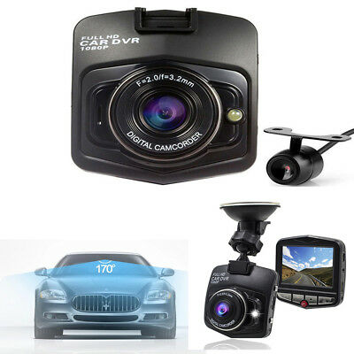 M209 HD Car Video Recorder Dual Len 1080P Recorder Camera 170 Angle Night Vision