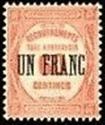 "FRANCE STAMP TIMBRE TAXE N° 63 "" RECOUVREMENT UN F. s. 60c. ROUGE "" NEUF x TB"
