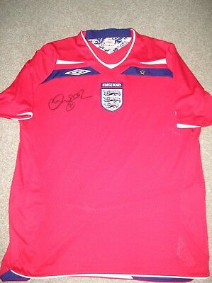For Charity: England Red Away Shirt Handsigned By David Beckham