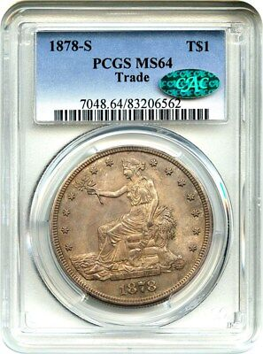 1878-S Trade$ PCGS/CAC MS64 - Great Type Coin - US Trade Dollar