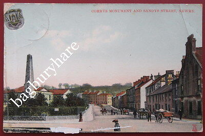 Postcard: Corrys Monument And Sandys Street, Newry, Armagh. Posted To Portsmouth