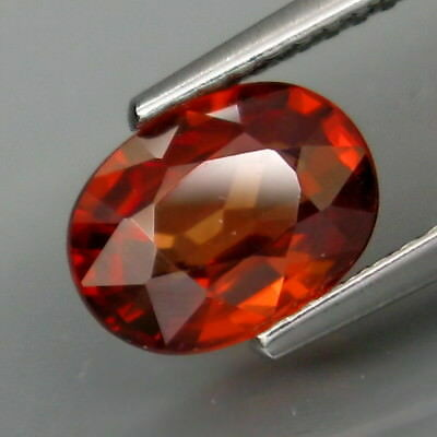 2.06Ct.Very Good Color! Natural Imperial Zircon Tanzania Full Fire&Eye Clean!