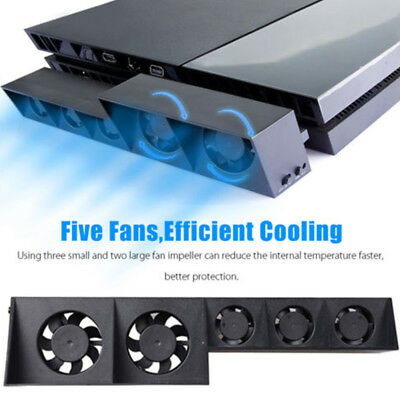 USB Design Cooler Cooling Fan Pad blue LED Stand for PS4 Playstation