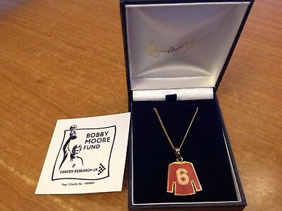 Official Bobby Moore Fund England Supporter's Pendant with Diamond Set Bale RARE