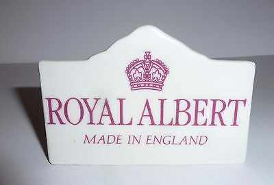 Royal Albert China Advertising Display Plaque - Excellent Condition
