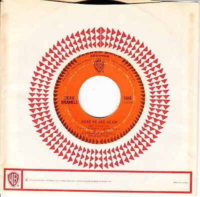 Beau Brummels 1966 Us  *here We Are Again/ Fine With Me*  Ex