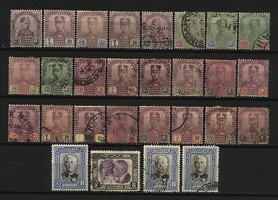 Malaya States Johore Collection 28 Stamps Used / Unused Mounted