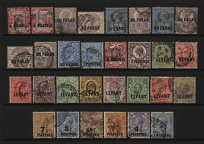 British Levant Collection 30 QV - KGV Ovprt Stamps Used