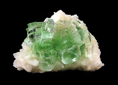 Apophyllite Froasted Green Crystal On Stilbite # 1858
