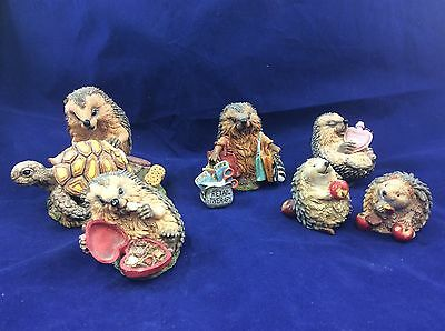 Country Artists Hedgies Collection of 6 Ornaments