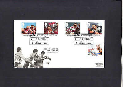 1995 Rugby League Centenary Royal Mail FDC with National Exhibition H/S
