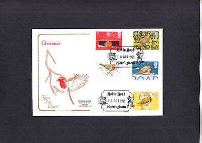 1995 Christmas Cotswold FDC with Robin Hood Nottingham H/S
