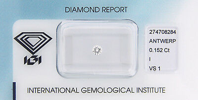 Diamant 0,152 ct I VS 1 IGI Zertifikat  - Sealed -