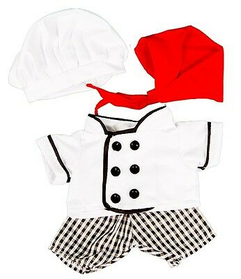"""Chef Costume Outfit Teddy Bear Clothes to fit 8""""-10"""" bears"""