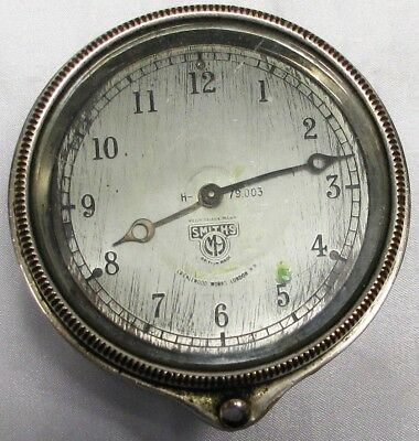 Vintage Car Clock By Smiths Of Cricklewood, Front Wind, H-79.003
