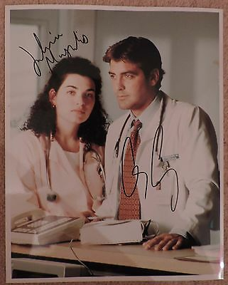 Er - Clooney & Margulies - Superb Signed Photograph - Coa