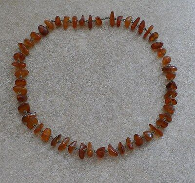 Natural Baltic amber necklace&copper  1900