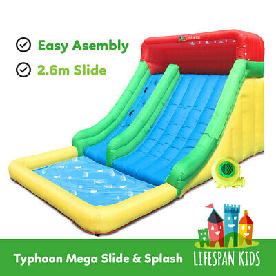 Inflatable Bounce House Jump Toy Typhoon Mega Slide & Splash lifespan kids